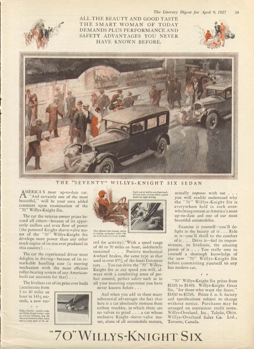 Image for America's most up-to-date car Willys-Knight Six ad 1927