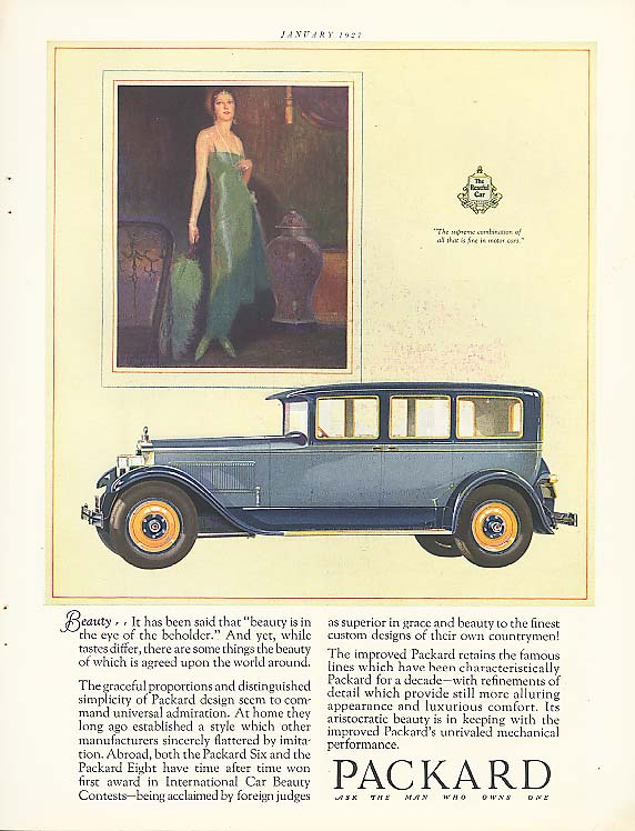 Image for Beauty - Packard 4-dr Sedan ad 1927