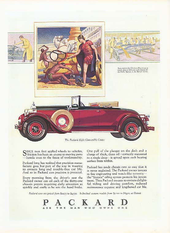 Image for Since man first applied Packard Convertible Coupe ad 1928 House & Garden