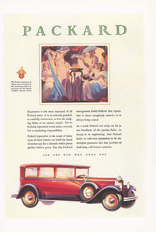 Image for Reputation is most treasured Packard 4-dr Sedan ad 1929