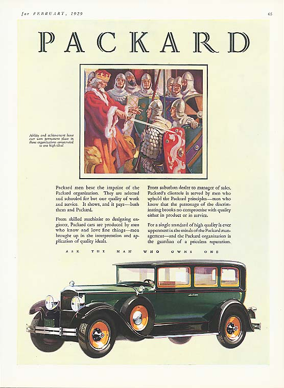 Image for Beat the imprint of Packard 4-dr Sedan ad 1929