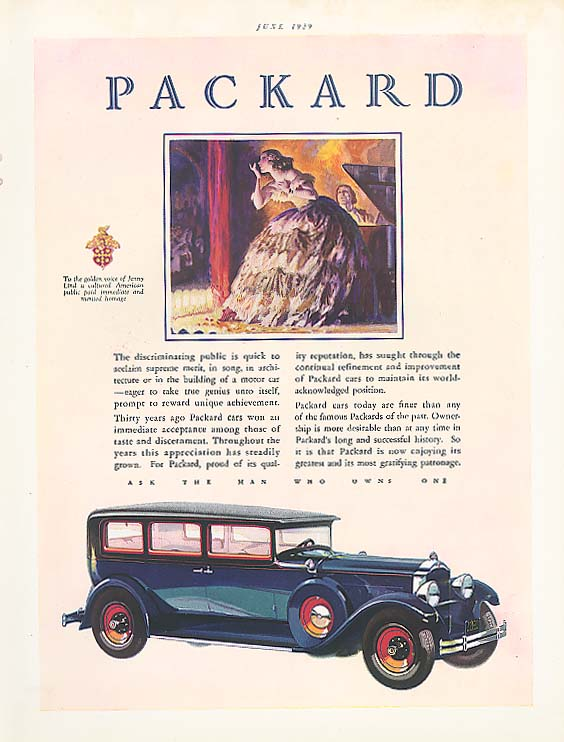 Image for The discriminating public - Packard 4-dr Sedan ad 1929