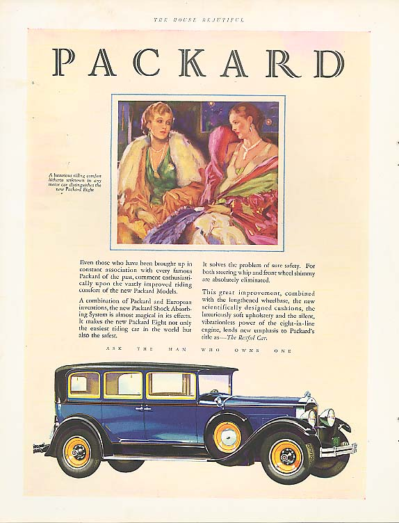 Image for Even those who have been - Packard 4-dr Sedan ad 1929