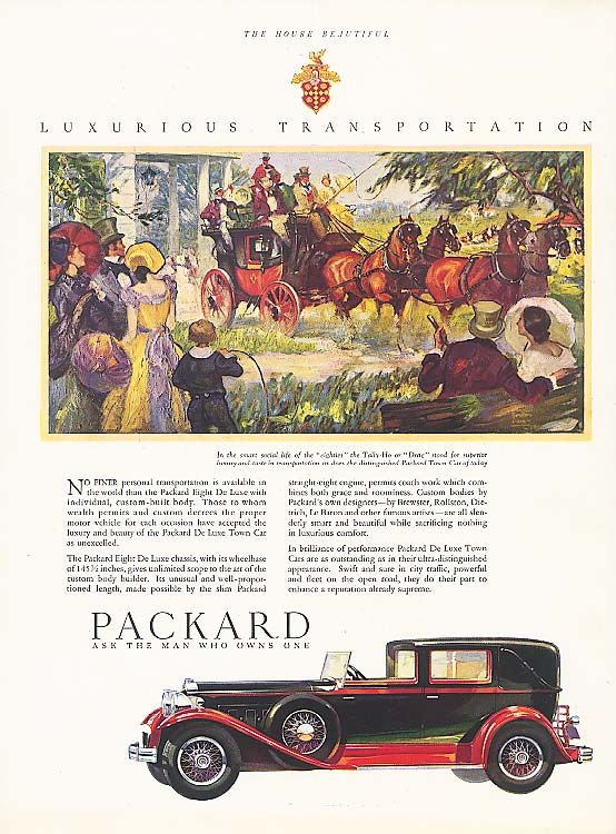 Image for No finer personal transportation Packard Town Car 1930