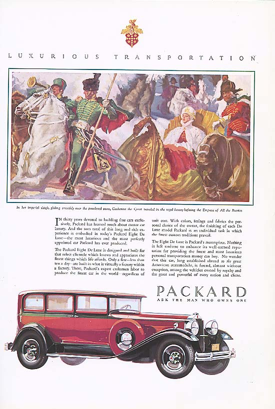 Image for Thirty years devoted Packard 4-dr Sedan ad 1930