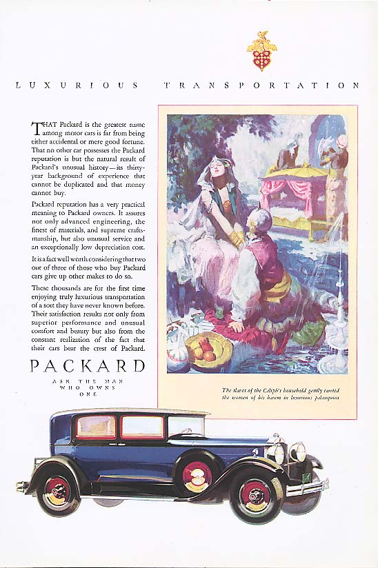 Image for Greatest name among motor cars Packard  ad 1930