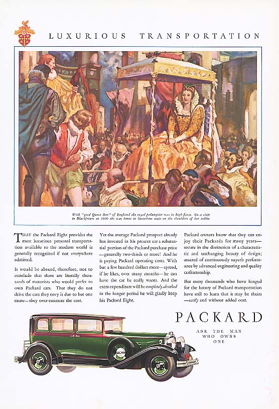 Image for Most luxurious - Packard 4-dr Sedan ad 1930