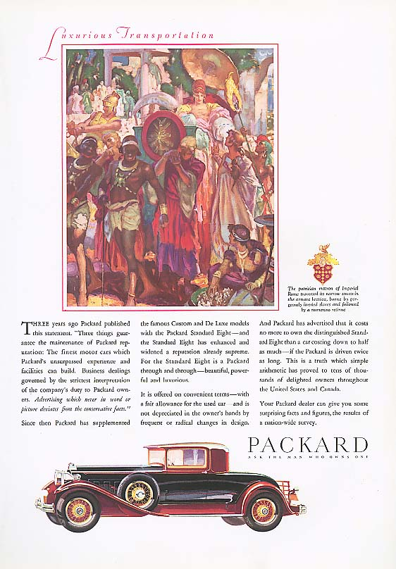 Image for Three years ago - Packard Coupe ad 1930