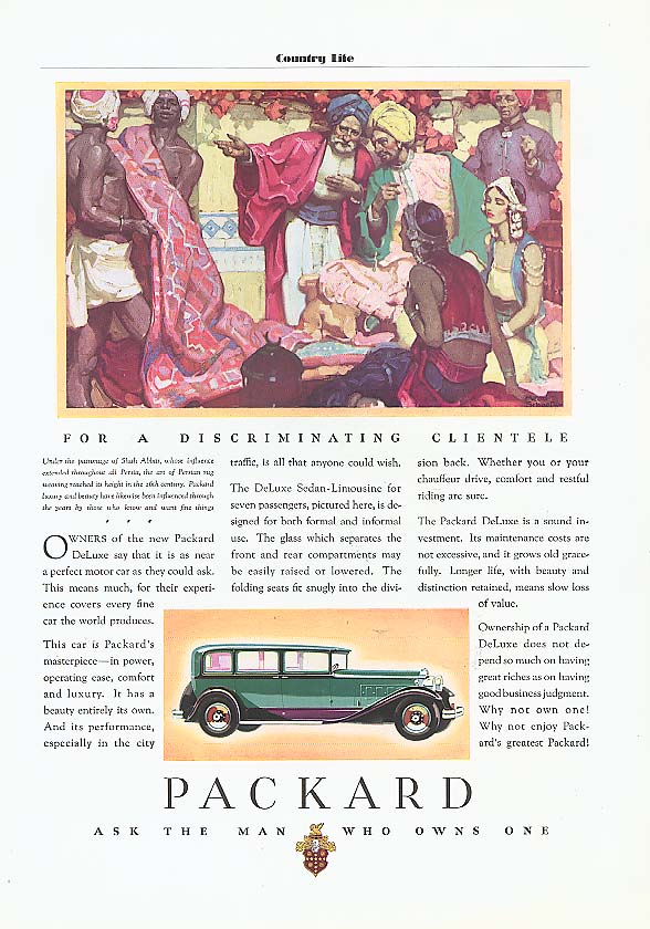 Image for Owners of the New Packard 4-dr Sedan ad 1931