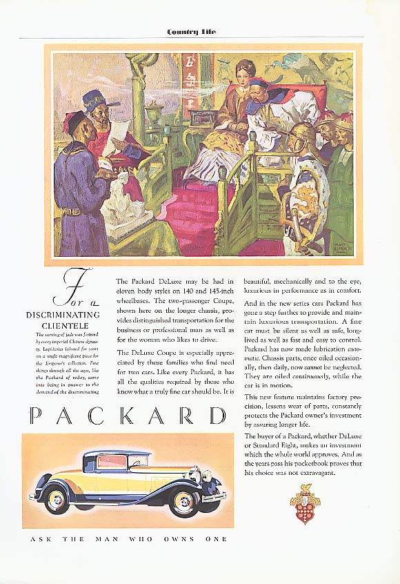 Image for Eleven body styles - Packard Coupe ad 1931
