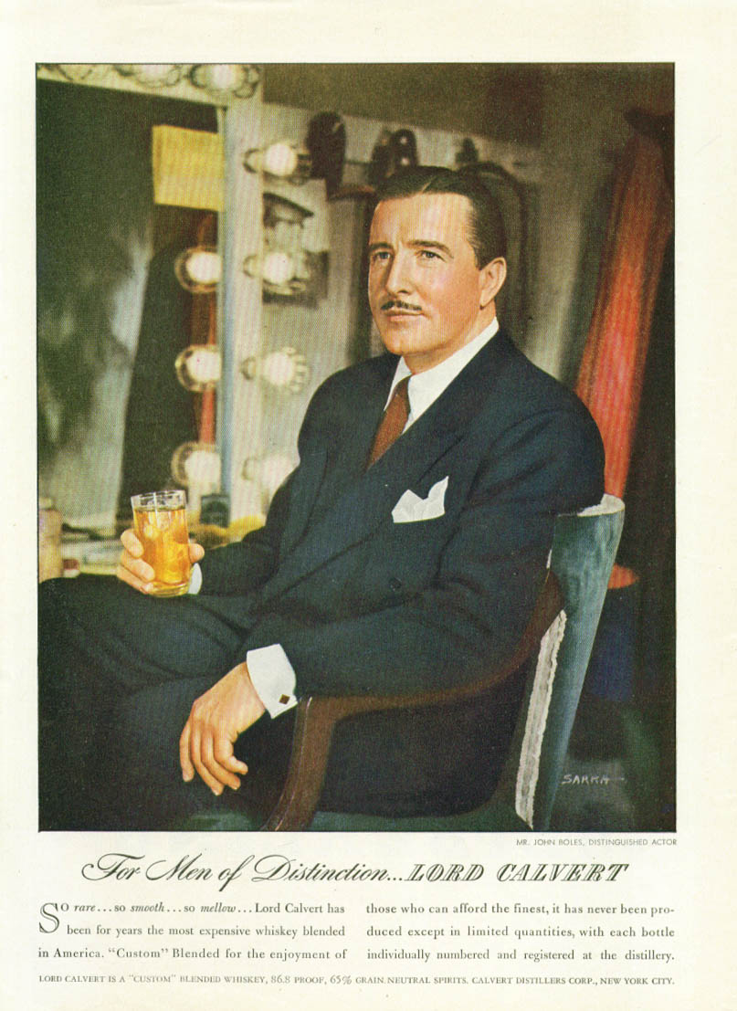 Image for John Boles for Lord Calvert Blended Whiskey ad 1946