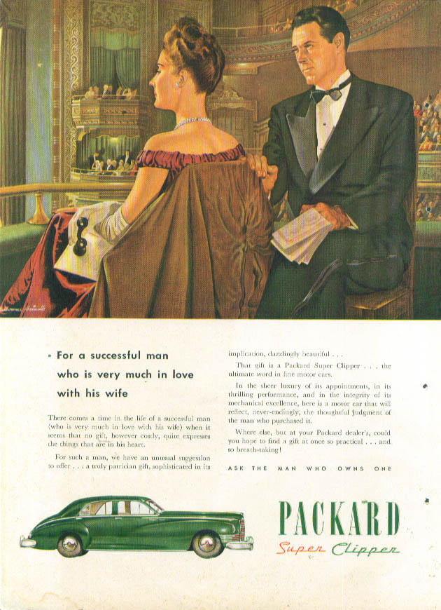 Image for For a successful man Packard Super Clipper ad 1946