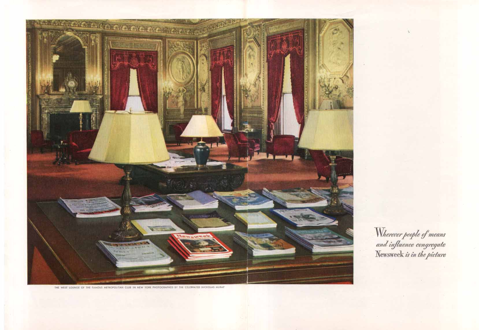 Image for Newsweek at Metropolitan Club NYC ad 1947 Muray