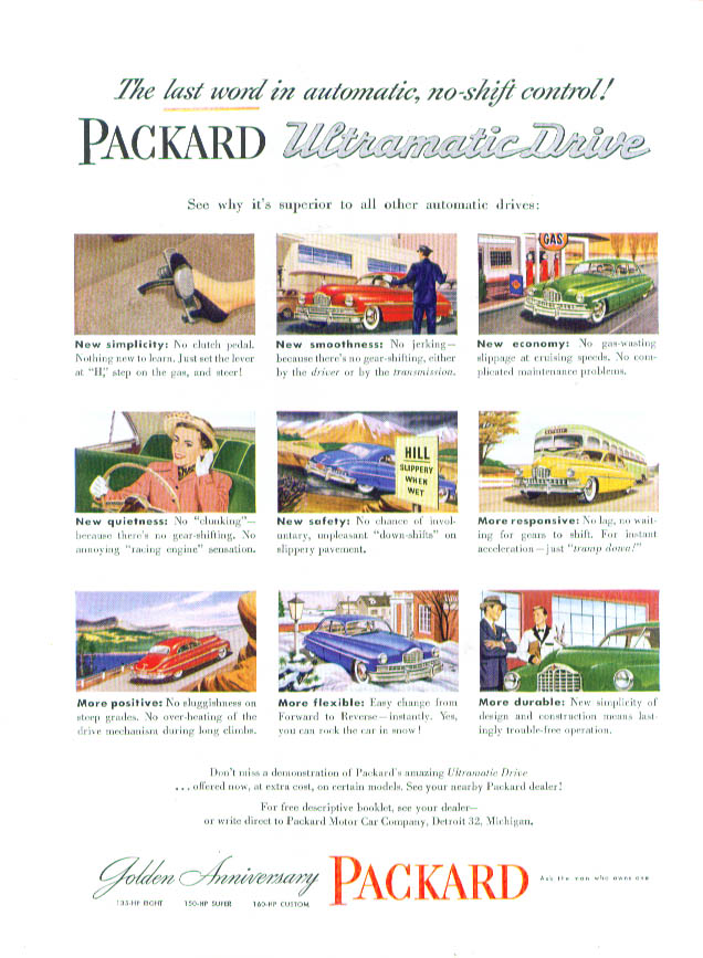 Image for The last word Packard Ultramatic Drive ad 1949
