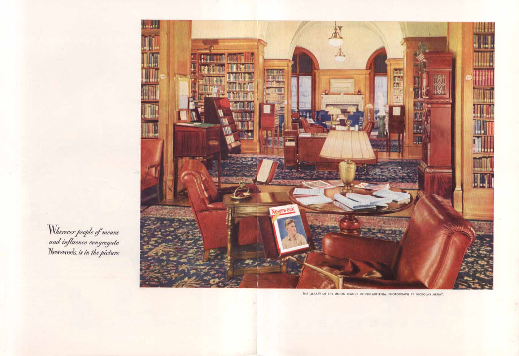 Image for Newsweek Union League of Philadelphia ad 1949 Muray