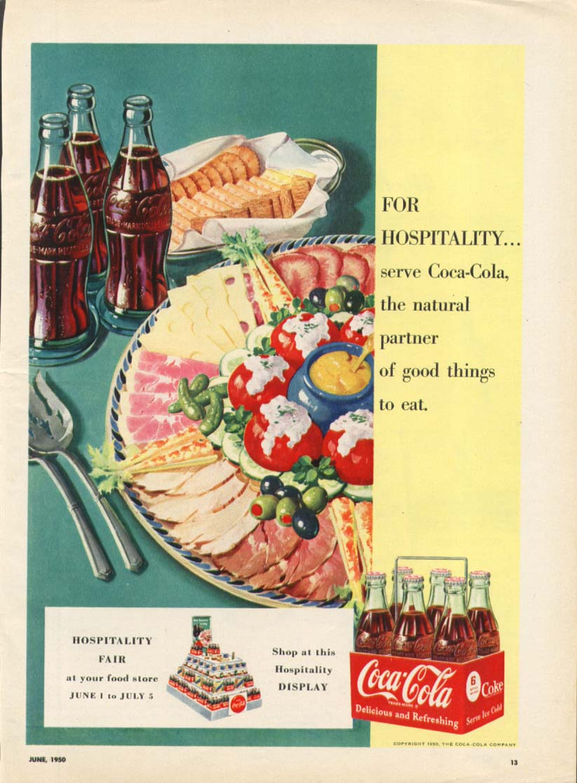 Image for Natural partner good things to eat Coca-Cola ad 1950