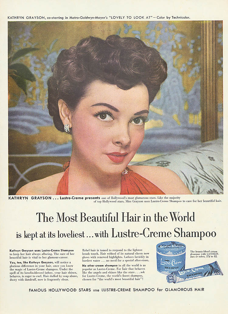 Image for Kathryn Grayson for Lustre-Crme Shampoo ad 1952