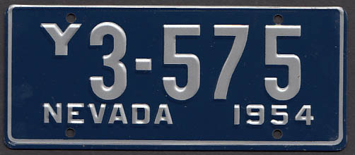 Image for Nevada Wheaties License Plate 1954