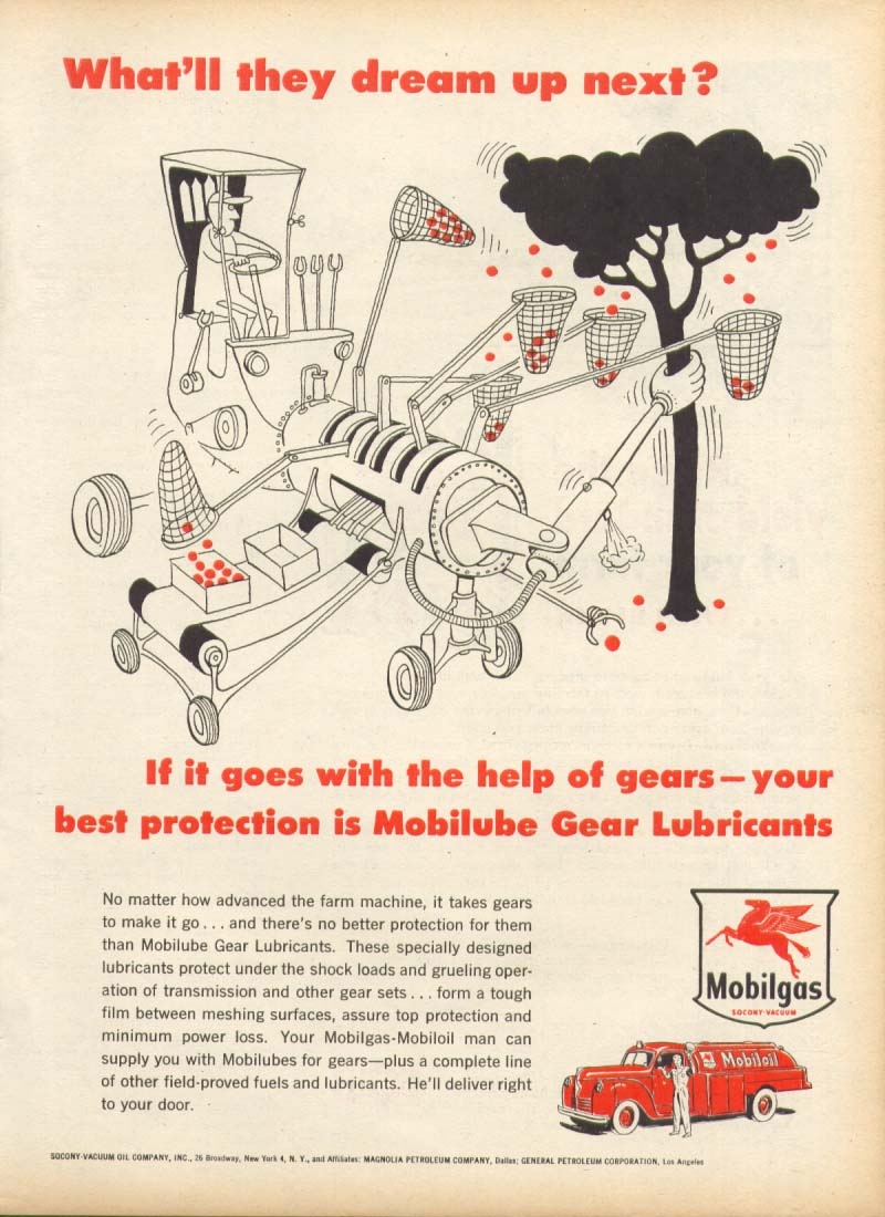 Image for Mobilgas Mobilube What'll they dream up next? Ad 1955