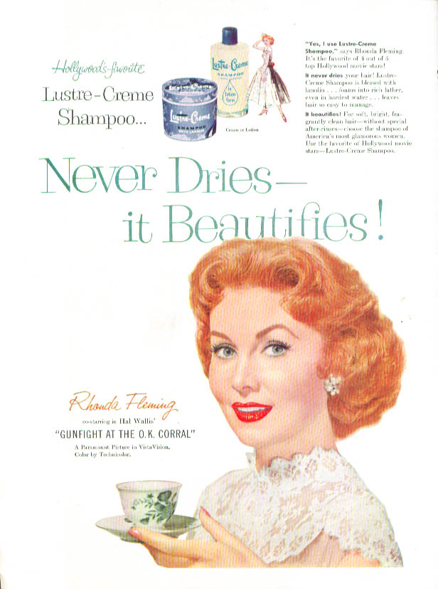 Image for Rhonda Fleming for Lustre-Crème Shampoo ad 1956
