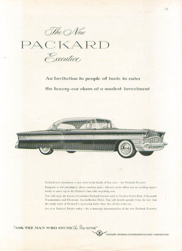 Image for The New Packard Executive - An Invitation ad 1956
