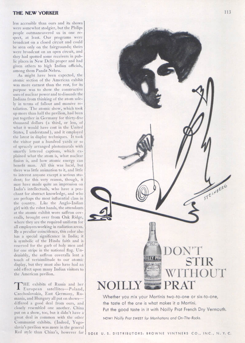 Image for Noilly Prat woman stirring ad 1956 Steinberg