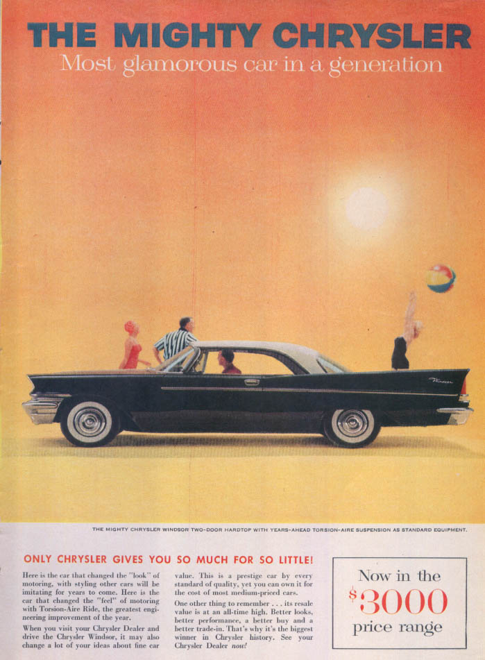 Image for Chrysler Windsor gives so much for so little ad 1957