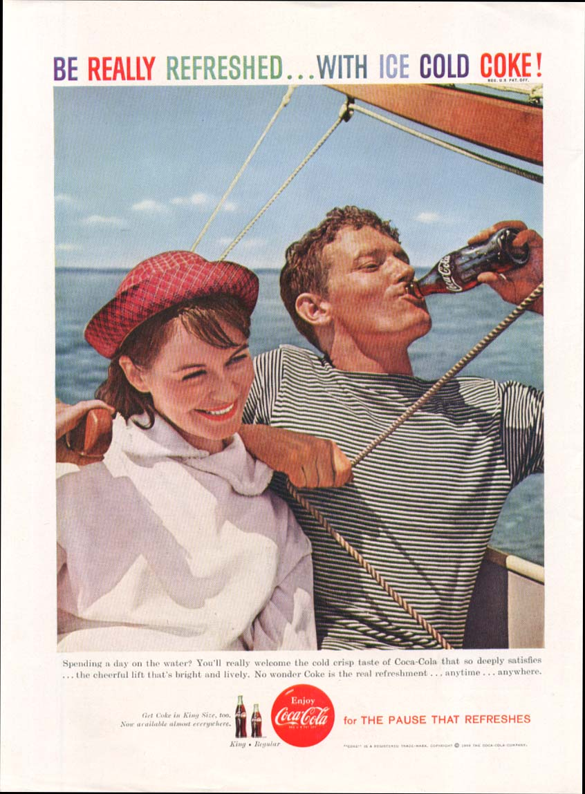 Image for Be Really Refreshed Ice Cold Coca-Cola ad 1959 sailing