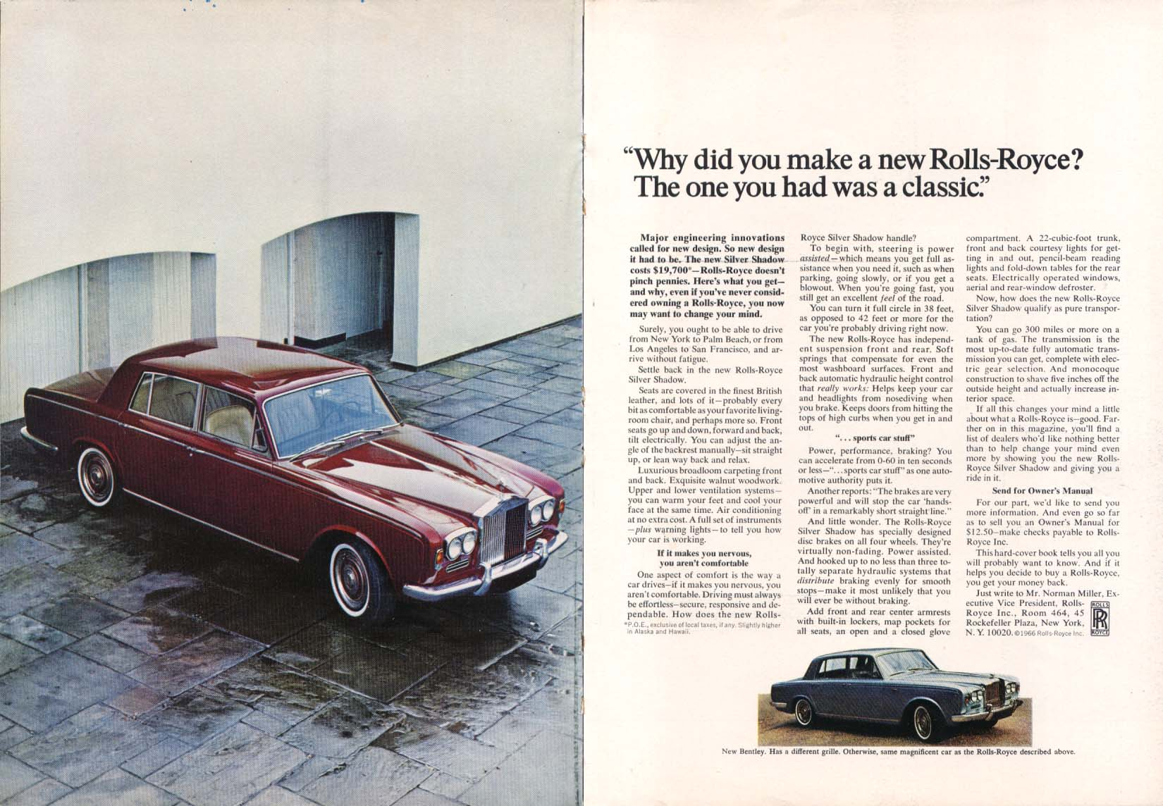 Image for Why did you make a new Rolls-Royce ? Ad 1966