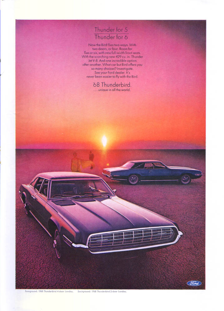 Image for Ford Thunderbird Landau Thunder for 5 or 6 ad 1968