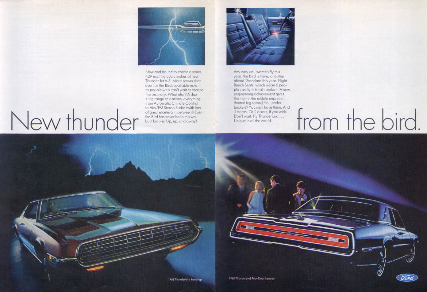 Image for Ford Thunderbird New thunder from the bird ad 1968