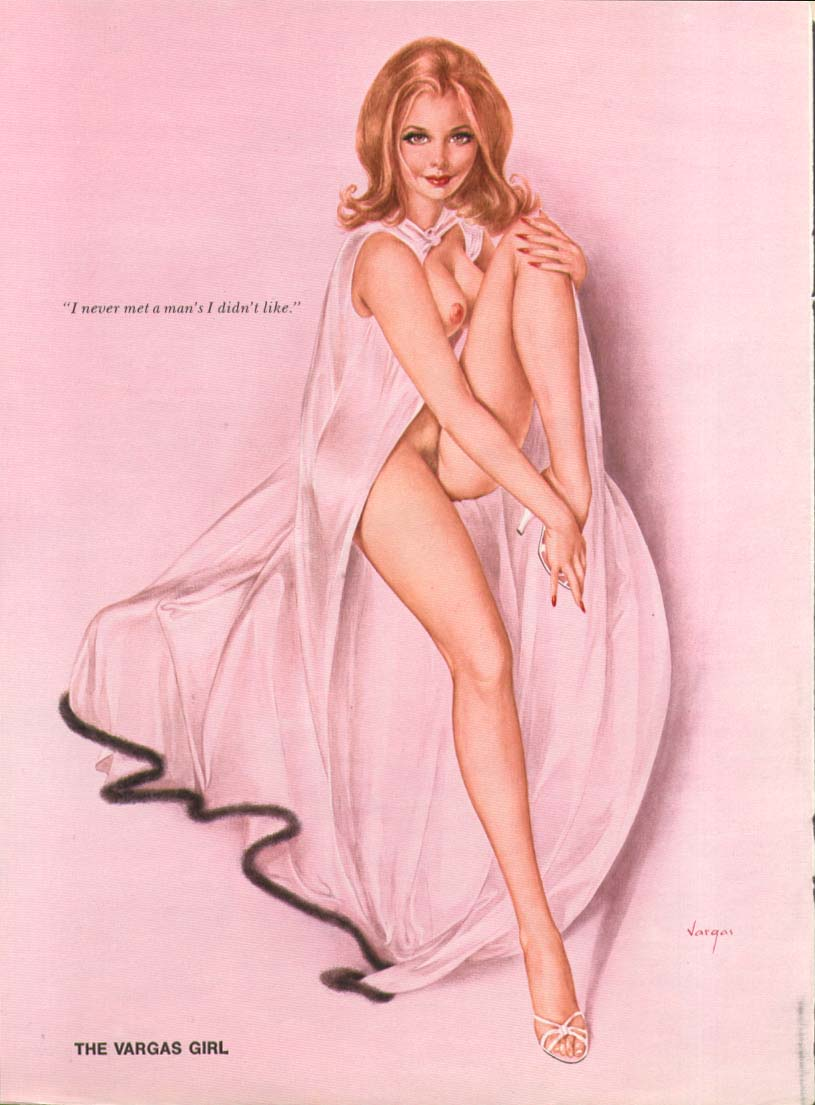 Image for I never met a man's I didn't like Vargas pin-up 1975