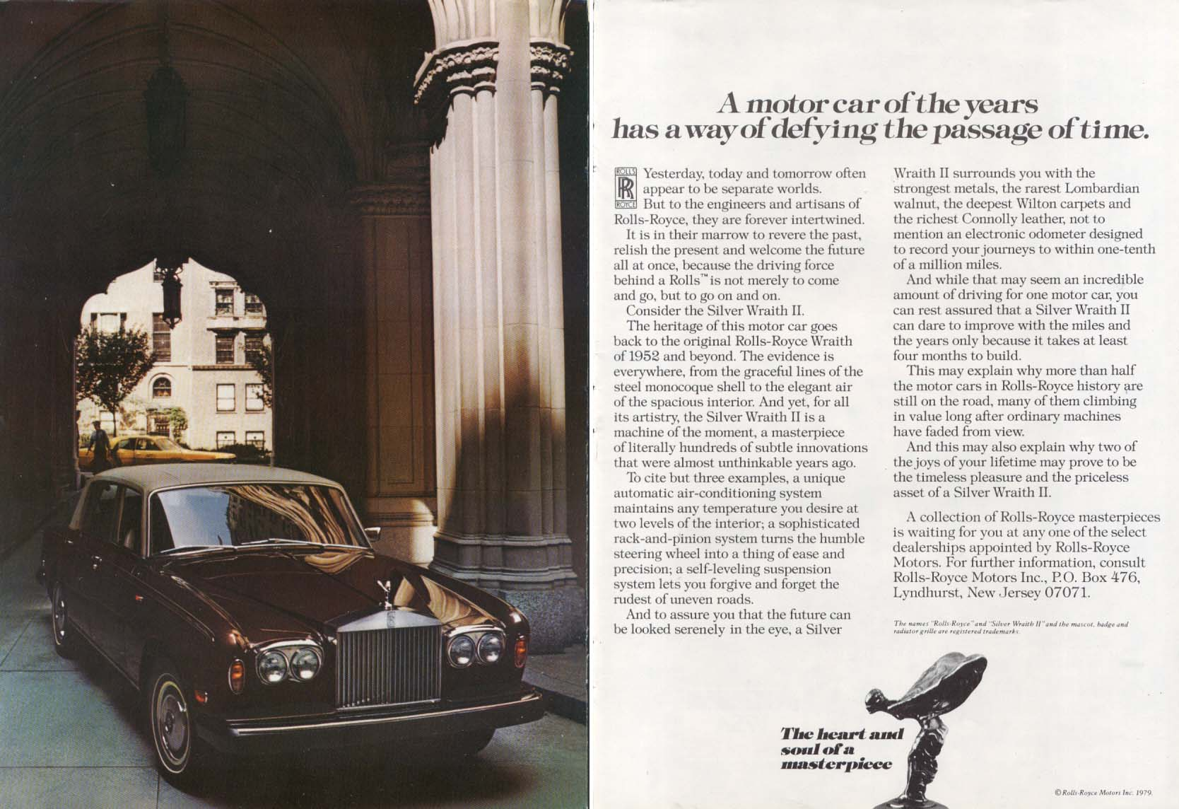 Image for A motor car of the years Rolls-Royce ad 1979