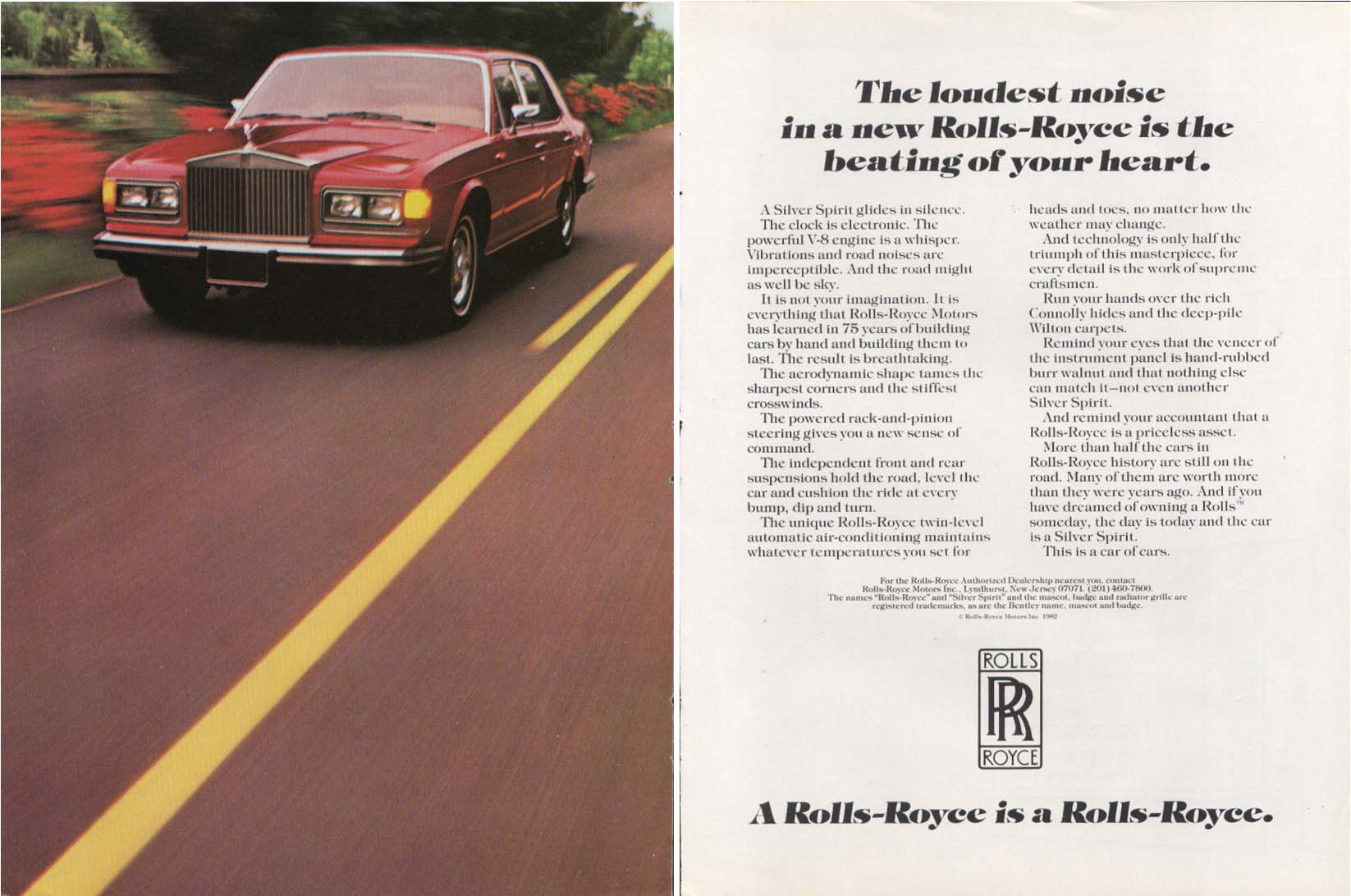 Image for The loudest noise is the beating of your heart Rolls-Royce ad 1982