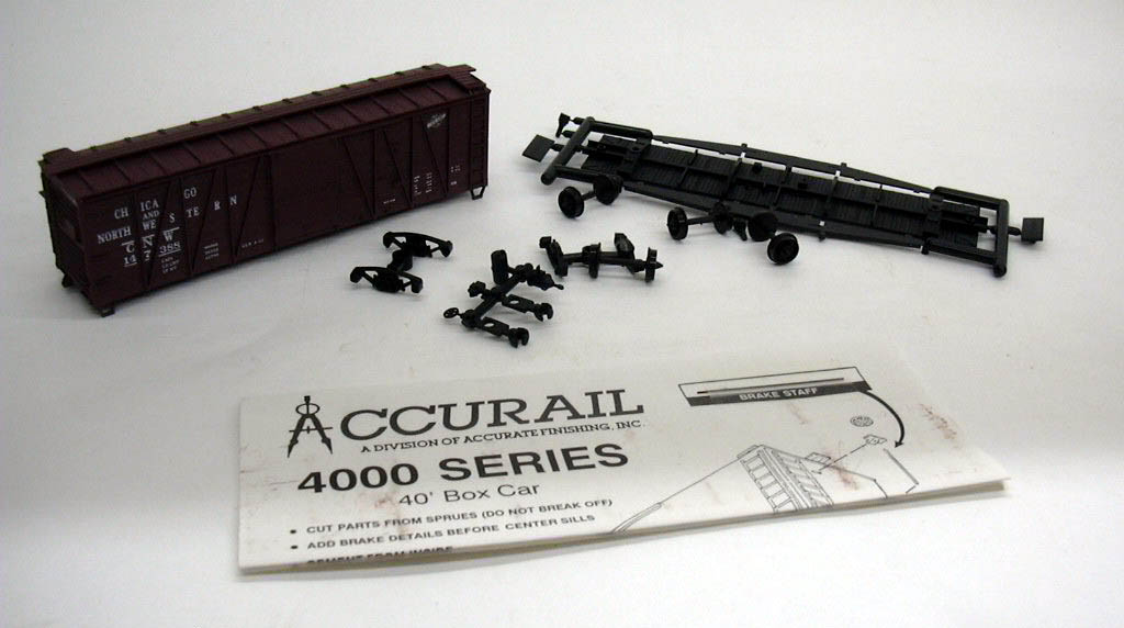 Image for Accurail HO Chicago & North Western 40' Box Car kit #4205 unbuilt 1960s