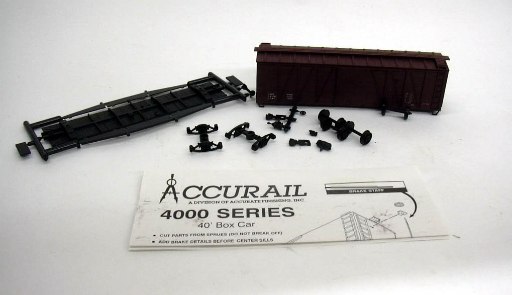 Image for Accurail HO Data Only - DK 40' Box Car kit #4298 unbuilt 1960s