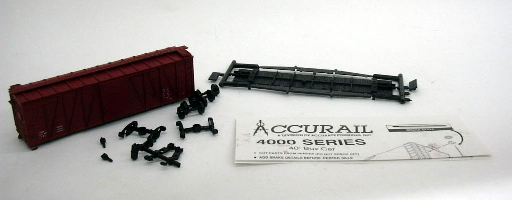 Image for Accurail HO Data Only - OX 40' Box Car kit #4299 unbuilt 1960s