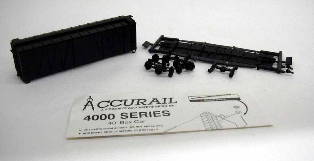 Image for Accurail HO Undeocrated 40' Box Car kit #4000 unbuilt 1960s