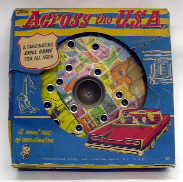 Image for Across The U. S. A. Hasbro Skill Game ca 1960s