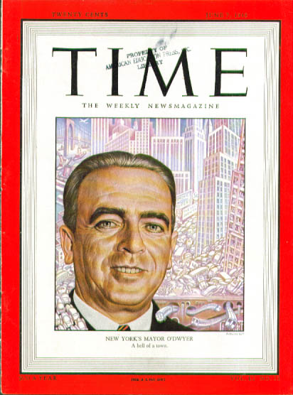Image for Artzybasheff cover NY Mayor O'Dwyer Time 6/7 1948