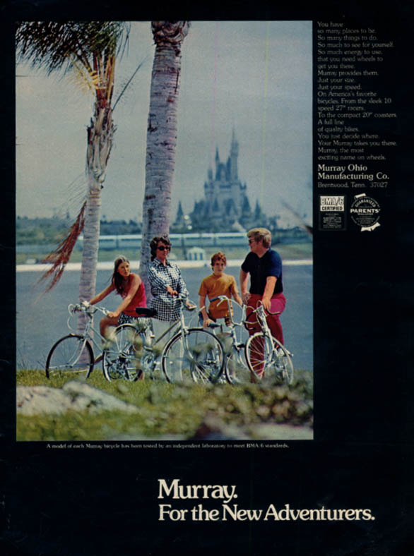 Image for For the New Adventurers - Murray Bicycle ad 1973