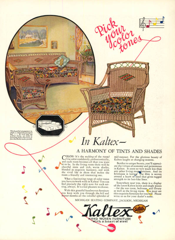 Image for Pick your color tones Kaltex Hand Woven Furniture Michigan Seating ad 1926