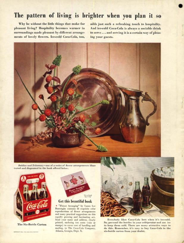 Image for The pattern of living is brighter when you plan it Coca-Cola ad 1940 H&G