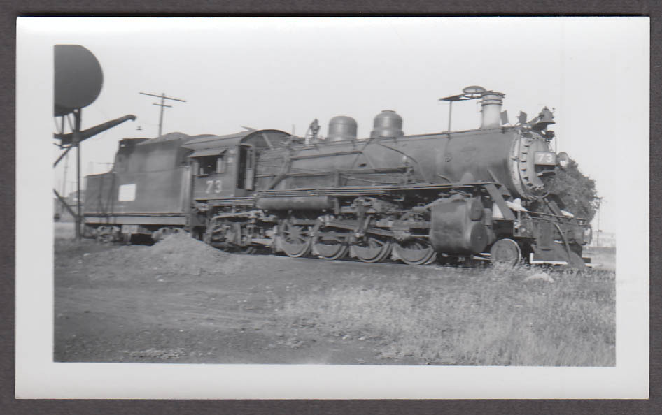 Image for Midland Valley Railroad 2-8-2 #73 locomotive photo Fort Smith AR 1952