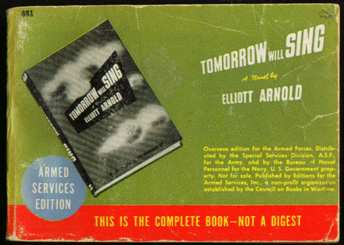 Image for ASE 681 Elliott Arnold: Tomorrow Will Sing