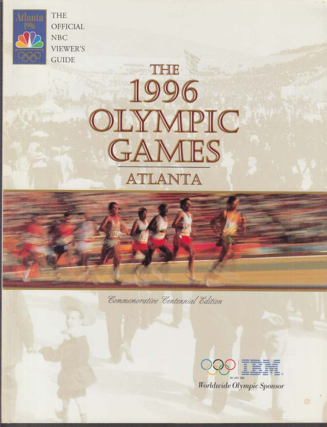 Image for 1996 Olympic Games Atlanta Official NBC Viewer's Guide
