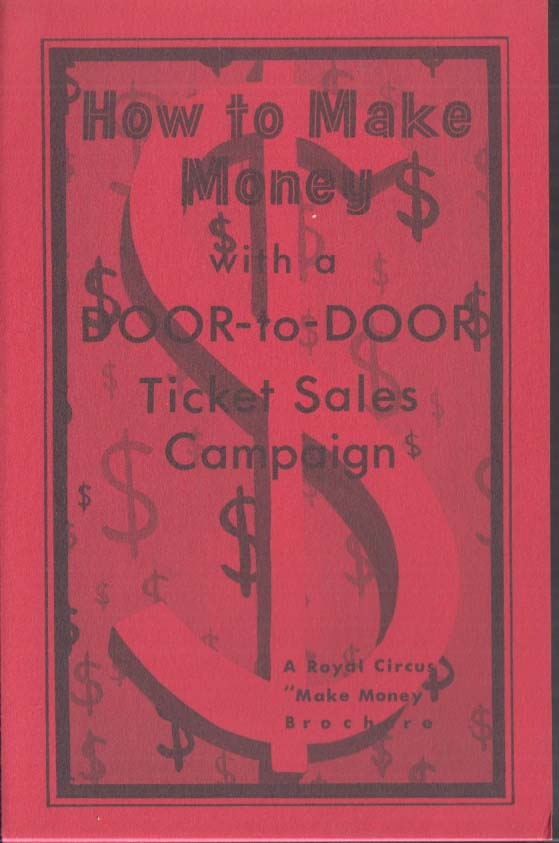 Image for Royal Circus How to Make Money with Door-to-Door Ticket Sales folder 1960s
