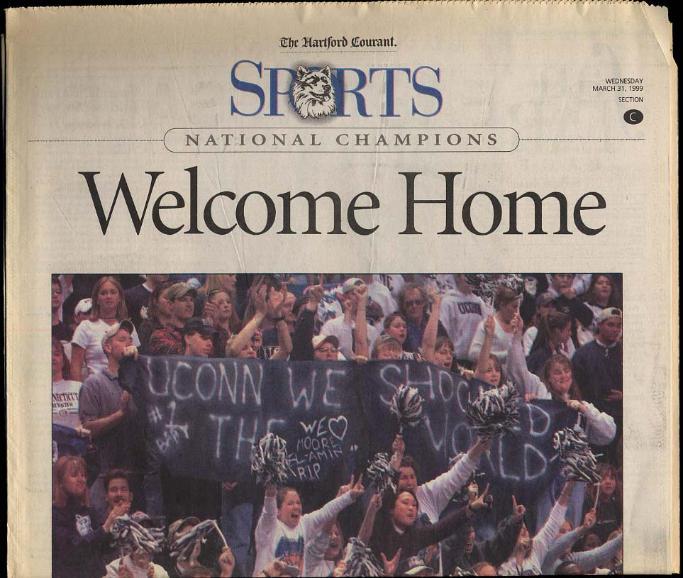 Image for Welcome Home 1999 newspaper section UConn Men's Basketball NCAA Champs