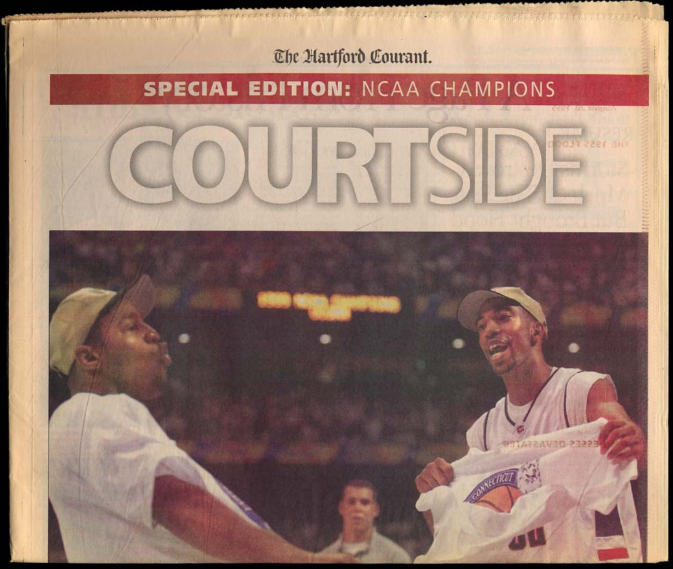 Image for Courtside NCAA Champions newspaper section UConn Men's Basketball 1999