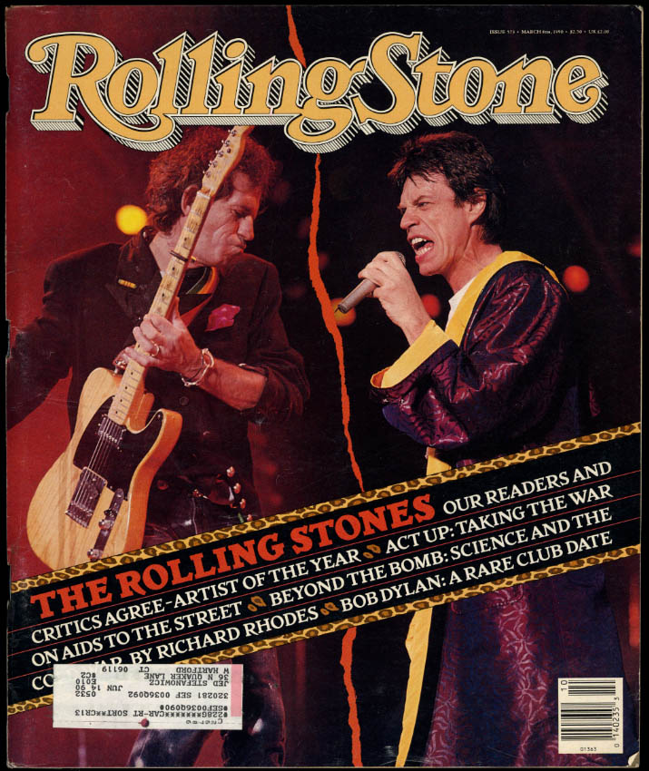 Image for ROLLING STONE 3/8 1990 Rolling Stones Bob Dylan Richard Rhodes on The Bomb